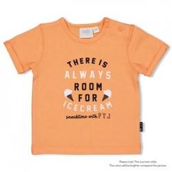 T-shirt orange Ice cream