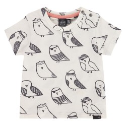 T-shirt oiseau pirate blanc...